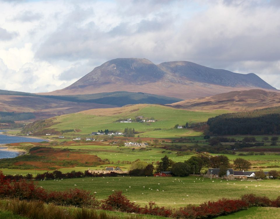 hills and valleys of Isle of Arran