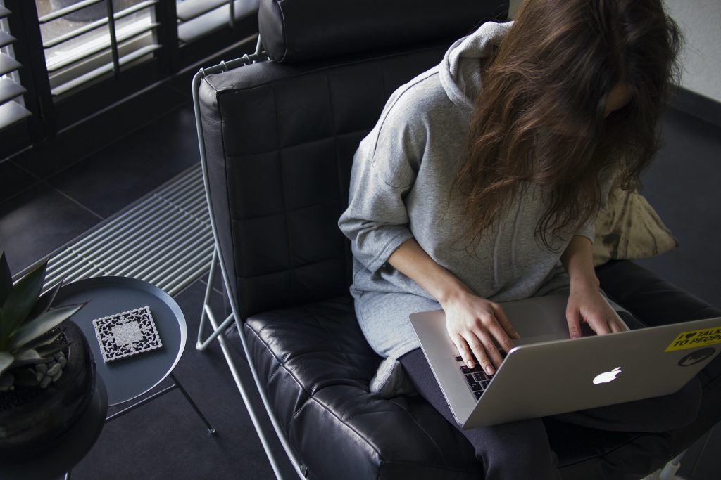 NaNoWriMo - woman at laptop