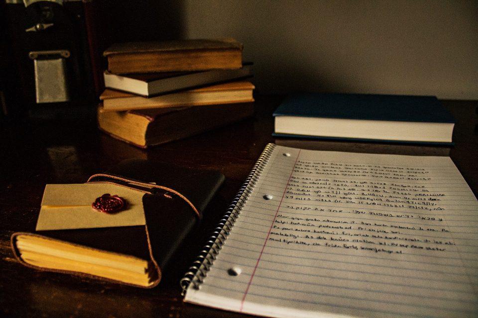 NaNoWriMo - a writer's desk