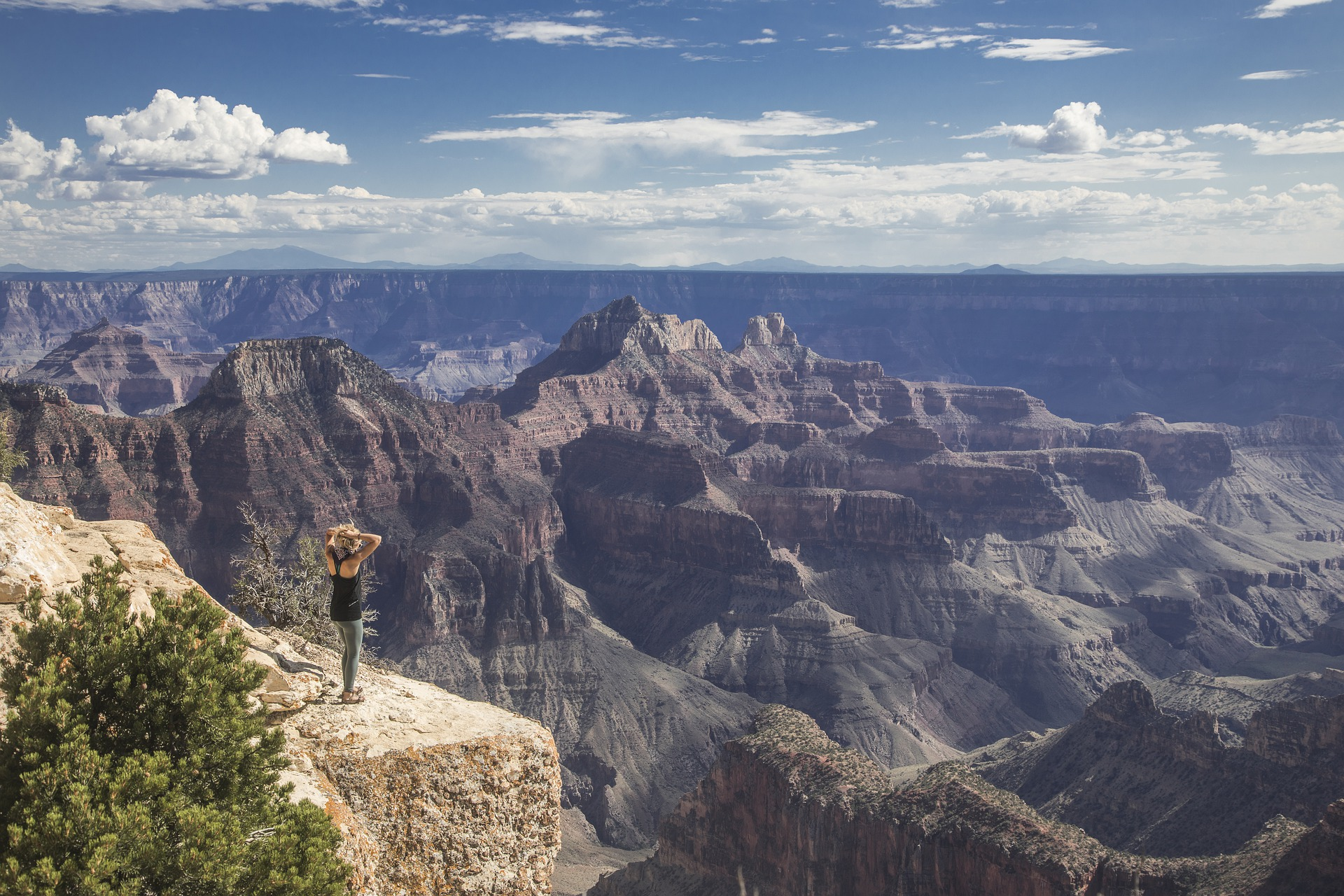 Music- woman overlooking the grand canyon